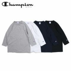 チャンピオン Champion Tシャツ ラグラン 七分袖 メンズ レディース T1011 RAGLAN 3/4 SLEEVE T-SHIRT ブラック ホワイト グレー ネイビ