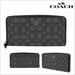 コーチ COACH 財布 長財布 F54633 スモークブラック ブラック レディース