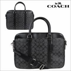 COACH コーチ メンズ バッグ ビジネスバッグ ブリーフケース F54803 チャコール×ブラック