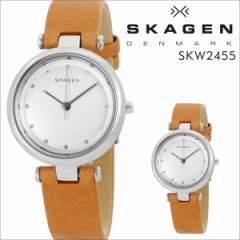 スカーゲン SKAGEN 腕時計 レディース 時計 レザー TANJA ターニャ SKW2455 ブラウン 防水