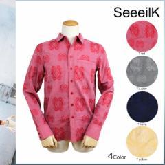 シーク Seeeilk 長袖 シャツ 4カラー BUTTON SHIRT LONG SLEEVE ロング スリーブ 刺繍 トップス 長そで メンズ