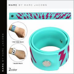 マーク バイ マーク ジェイコブス MARC BY MARC JACOBS スラップ ブレスレット バングル ブラック ピンク M0002089 レディース メンズ