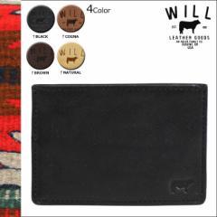 ウィルレザーグッズ WILL LEATHER GOODS カードケース 革 パスケース 定期入れ レザー 26391 4カラー SAMPSON SLIM CARD メンズ レディー