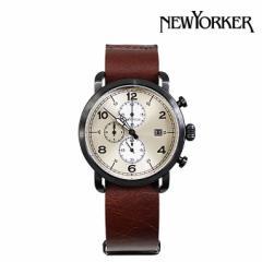 ニューヨーカー NEWYORKER 腕時計 35mm ウォッチ 時計 クロノグラフ NY007-02N シルバー OVERSTAGE メンズ レディース