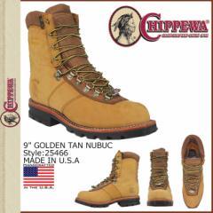 チペワ CHIPPEWA 9インチ ワークブーツ タン ブラウン GOLDEN NUBUCK BRIAR OILED WATERPROOF 25466 9INCH GOLDEN TAN NUBUC Eワイズ レ