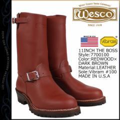 ウエスコ WESCO 11インチ ジョブマスター ブーツ エンジニアブーツ 11INCH THE BOSS STEEL TOE Eワイズ レザー レッドウッド RW7700100