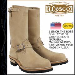 ウエスコ WESCO 11インチ ジョブマスター ブーツ エンジニアブーツ 11INCH THE BOSS STEEL TOE Eワイズ レザー バーラップ BE7700100 ウ