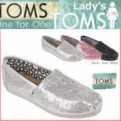 TOMS レディース トムス シューズ スリッポン TOMS SHOES トムズ WOMEN'S GLITTERS トムズシューズ