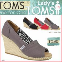 TOMS レディース トムス シューズ サンダル toms shoes トムズ CALYPSO CANVAS WOMEN'S WEDGES トムズシューズ