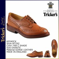 トリッカーズ Tricker's ウイングチップ シューズ KESWICK M7292 5ワイズ メンズ