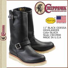 チペワ CHIPPEWA ブーツ 11インチ オデッサ ハイランダー ブラック 1901M00 11INCH ODESSA HIGHLANDER Eワイズ レザー BOOT メンズ