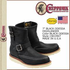 チペワ CHIPPEWA ブーツ 7インチ ハイランダー エンジニア 7INCH HIGHLANDER 1901M07 Eワイズ ブラック メンズ