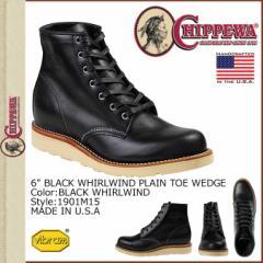 チペワ CHIPPEWA ブーツ 6インチ プレーン トゥ ウェッジ 6INCH PLAIN TOE WEDGE 1901M15 Dワイズ ブラック メンズ