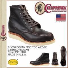 チペワ CHIPPEWA 6インチ モック トゥ ウェッジ ブーツ コードバン 1901M20 6INCH MOC TOE WEDGE Eワイズ レザー BOOTS メンズ