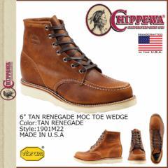 チペワ CHIPPEWA 6インチ モック トゥ ウェッジ ブーツ 6INCH TAN RENEGADE MOC TOE WEDGE Eワイズ レザー メンズ 1901M22