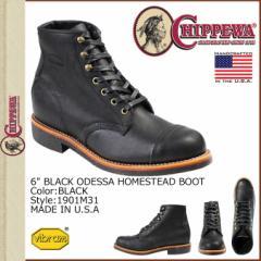 チペワ CHIPPEWA 6インチ ホームステッド ブーツ ブラック 1901M31 6INCH HOMESTEAD BOOT Dワイズ レザー メンズ