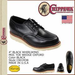チペワ CHIPPEWA 4インチ ホワールウィンド モック トゥ ウェッジ オックスフォード 4INCH WHIRLWIND MOC Eワイズ 1901M38