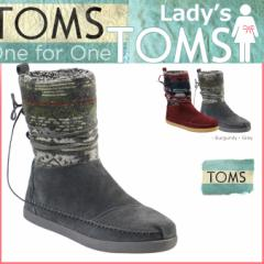 TOMS レディース トムス シューズ ブーツ TOMS SHOES トムズ SUEDE JACQUARD WOMENS NEPAL BOOTS トムズシューズ