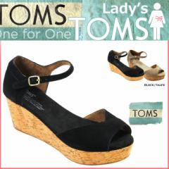 TOMS レディース トムス シューズ サンダル toms shoes トムズ SUEDE WOMEN'S PLATFOAM WEDGES トムズシューズ