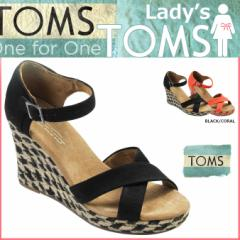 TOMS レディース トムス シューズ サンダル toms shoes トムズ ROPE WOMENS STRAPPY WEDGES トムズシューズ