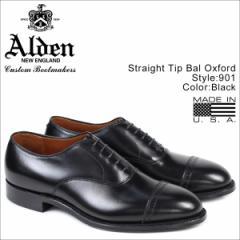 ALDEN オールデン ストレートチップ シューズ STRAIGHT TIP BAL OXFORD Dワイズ 901 メンズ [4/25 再入荷]