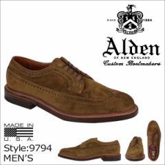 ALDEN オールデン ウイングチップ シューズ LONG WING BLUCHER Dワイズ 9794 メンズ