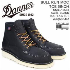 ダナー Danner ブーツ BULL RUN MOC TOE 6INCH 15568 EEワイズ メンズ ブラック