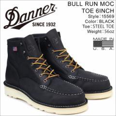 ダナー Danner ブーツ BULL RUN MOC TOE 6INCH 15569 EEワイズ メンズ ブラック