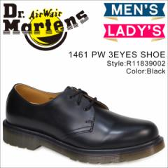 ドクターマーチン 3ホール 1461 PW メンズ レディース Dr.Martens オックスフォード シューズ 3EYELET SHOE R11839002 ブラック [3/26 追