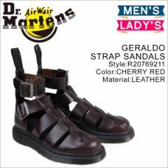 ドクターマーチン サンダル メンズ レディース Dr.Martens GERALDO STRAP SANDALS R20769211 チェリーレッド
