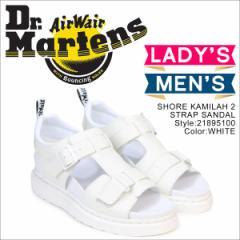 ドクターマーチン Dr.Martens サンダル ショア カミラ 2 ストラップ レディース メンズ SHORE KAMILAH 2 STRAP SANDAL ホワイト 白 21895
