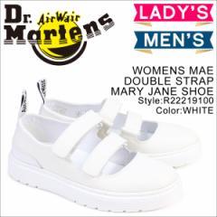 ドクターマーチン シューズ レディース メンズ Dr.Martens ストラップ WOMENS MAE DOUBLE STRAP MARY JANE SHOE R22219100 ホワイト