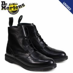 ドクターマーチン 6ホール ブーツ レディース メンズ Dr.Martens DELPHINE BROGUE BOOT ブラック R22650001