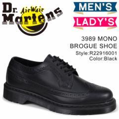 ドクターマーチン ウイングチップ 3989 メンズ レディース Dr.Martens シューズ MONO BROGUE SHOES ブラック R22916001