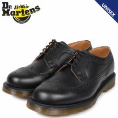 ドクターマーチン ウイングチップ メンズ レディース Dr.Martens 3989 SMOOTH ブラック R24340001