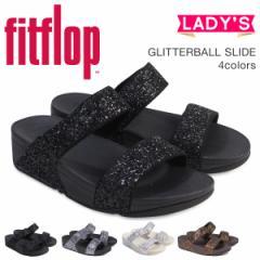 FitFlop サンダル フィットフロップ グリッター スライド GLITTERBALL SLIDE レディース H24 ブラック ベージュ ブラウン
