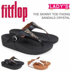 FitFlop サンダル フィットフロップ スキニー THE SKINNY TOE-THONG SANDALS CRYSTAL レディース K22 ブラック ブラウン