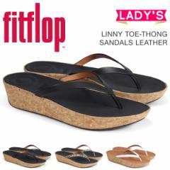 FitFlop サンダル フィットフロップ ライニー LINNY TOE-THONG SANDALS LEATHER レディース K46 ブラック ブラウン