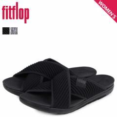 FitFlop フィットフロップ サンダル コンフォートサンダル アートニット レディース ARTKNIT CROSS SLIDE ブラック 黒 Q85 [3/20 新入荷]