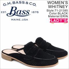 G.H. BASS ジーエイチバス ローファー レディース サンダル スリッパ バブーシュ ERIN MULE 71-21385 ブラック