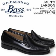 G.H. BASS ローファー ジーエイチバス メンズ WEEJUNS LARSON ブラック BA11010-000