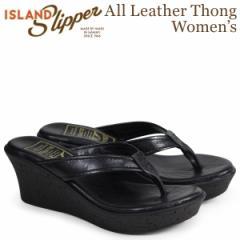 アイランドスリッパ ISLAND SLIPPER レディース サンダル ウェッジサンダル スエード ALL LEATHER THONG ブラック BP910