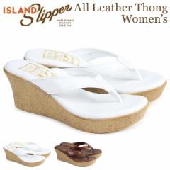 アイランドスリッパ ISLAND SLIPPER レディース サンダル ウェッジサンダル スエード ALL LEATHER THONG ホワイト ブラウン P910