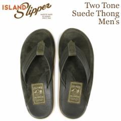 アイランドスリッパ ISLAND SLIPPER メンズ サンダル トングサンダル スエード レザー LEATHER SUEDE オリーブ PT205