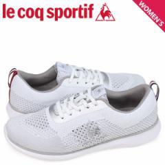 ルコック スポルティフ le coq sportif スニーカー LA エ−ル フランスニット スタイル レディース LA AIRE FRANCE KNIT STYLE ホワイト