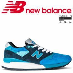 ニューバランス 998 メンズ new balance スニーカー M998NE Dワイズ MADE IN USA ブルー 8/13 新入荷