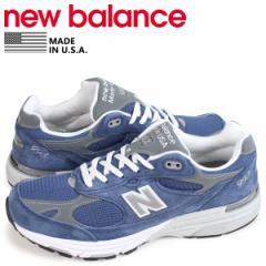 ニューバランス new balance 993 メンズ スニーカー MR993VI Dワイズ MADE IN USA ブルー