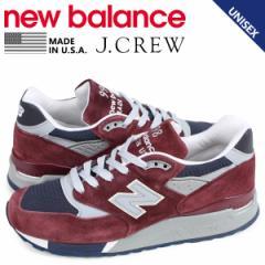 ニューバランス new balance 998 J.CREW ジェイクルー スニーカー メンズ レディース Dワイズ MADE IN USA 別注 バーガンディ M998JB1 5/