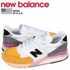 ニューバランス new balance 998 スニーカー メンズ Dワイズ MADE IN USA ホワイト 白 M998PSD 5/16 新入荷