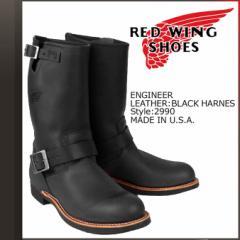 レッドウィング ブーツ RED WING 2990 エンジニアブーツ ENGINEER Dワイズ ブラック メンズ レディース
